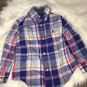 Ralph Lauren Boys Long Sleeve Plaid Button Shirt
